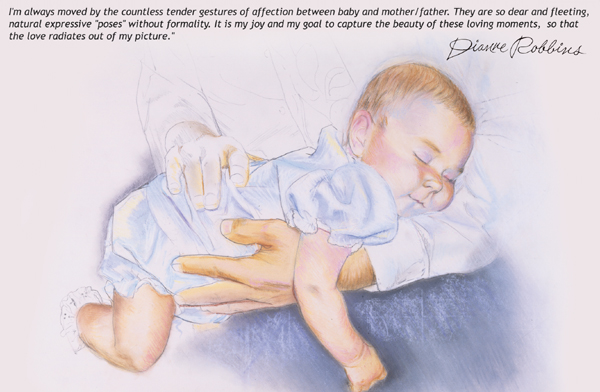 Portrait of baby in pastel